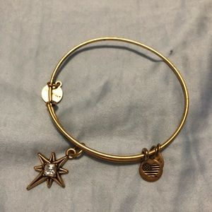 Alex and Ani North Star gold bracelet